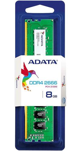 Imagem 1 de 2 de Memória Adata Premier 8gb 2666mhz Ddr4 Cl19