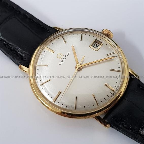 Relógio Omega Clássico 1966 Ouro Maciço 18k Corda Manual