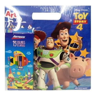 Libro Para Colorear Toy Story 4 + Colores X 12 Unidades
