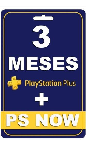 Psn Plus 3 Meses + Ps Now | Você Online