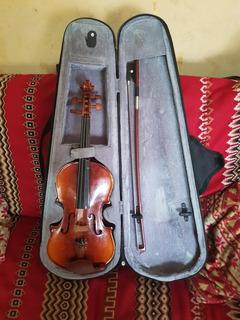 Violin De 1/4 Con Estuche Negro Para Estudiantes
