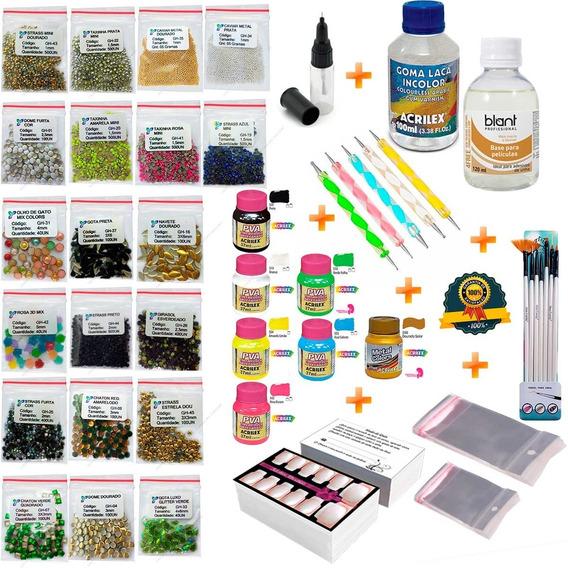 Kit Manicure Para Fazer Adesivos De Unha