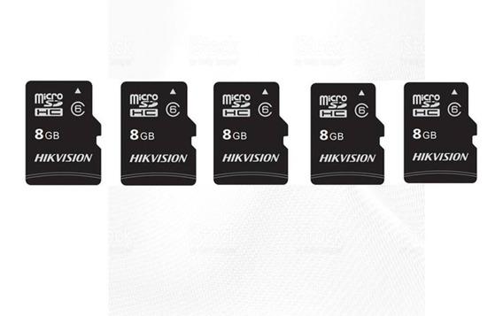 Kit 5 Cartão Memória Micro Sd Hikvision 8gb Classe 10