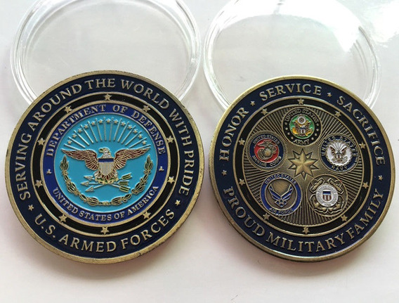 Moeda Comemorativa Forças Armadas Dos Estados Unidos