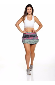 Kit 10 Short Saia Suplex Estampado Fitness - Atacado