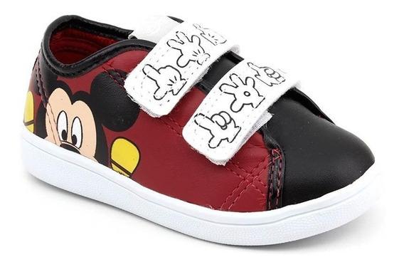 Tênis Infantil Disney Mickey Dd0331 Vermelho Loja Pixolé
