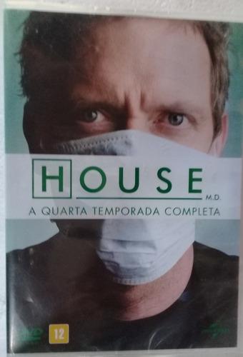 House   4° Temporada  4 Dvd´s Lacrado Pronta Ent Frete 15,00