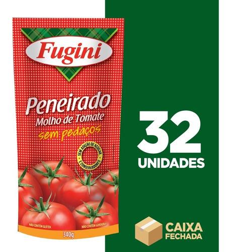 Molho De Tomate Trad. Peneirado Fugini Sache 32 X 340 G