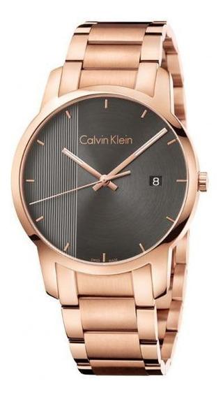 Relógio Calvin Klein City K2g2g643 Masculino Rosé