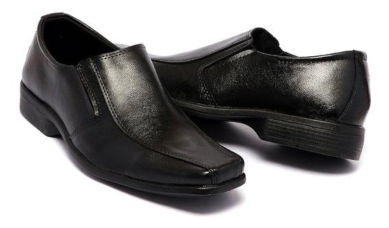 Sapato Social Masculino Infantil Couro Bovino Elastico.