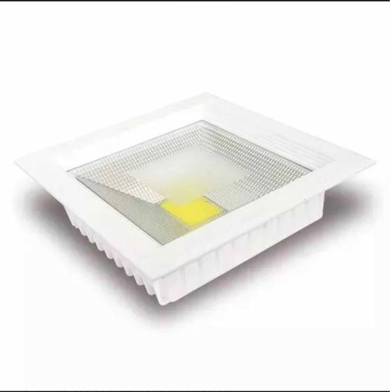 Kit 5 Luminárias Cob Dow Light Led 30w Embutir 3500k