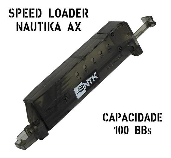 Airsoft Speed Loader Recarregador Rápido Capacidade 100 Bbs