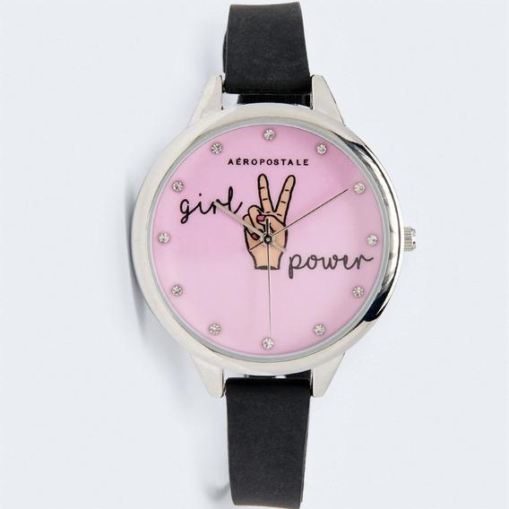 Relógio Feminino Rosa Com Brilhantes Aeropostale Us