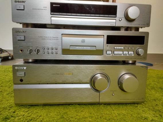 Conjunto De Som Sony Cd Player, Amplificador E Tuner