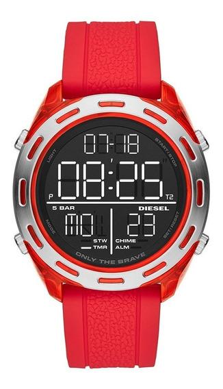 Relógio Masculino Diesel Digital Dz1900/8pn Vermelho