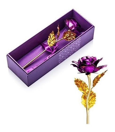 San Valentín Regalos Para Ella, La Flor De Rose Hoja De Oro