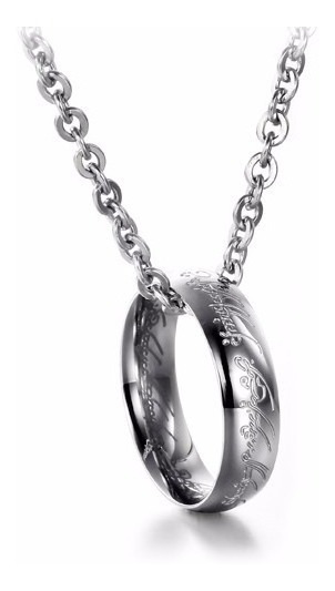Collar Con Anillo Lord Of The Ring Acero Inoxidable - 96