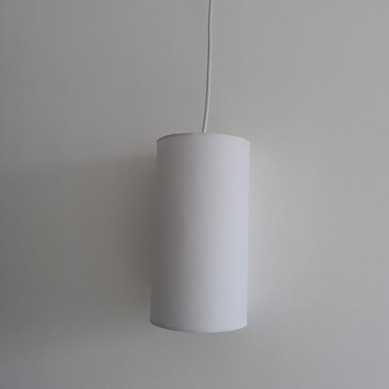 Luminária Pendente Cúpula Branca Para E27 13x13x113