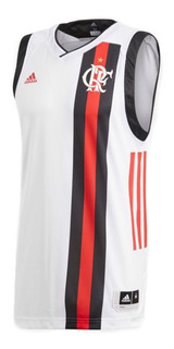 Camisa Flamengo Regata Basquete Branca Original - Footlet
