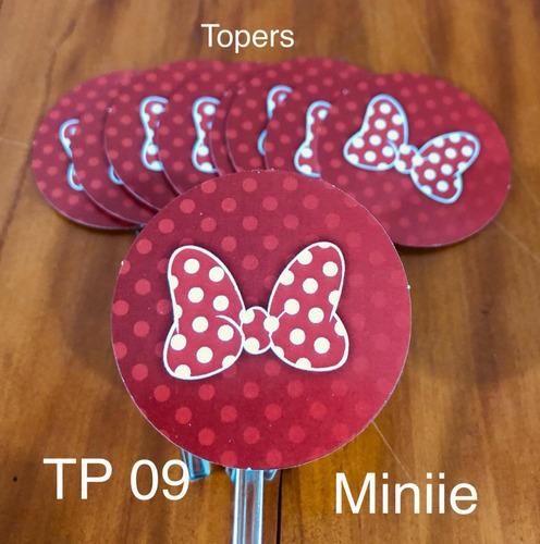 Imagem 1 de 1 de 100 Toppers Tags 3d Plaquinha Doces Aniversário Minnie Mouse