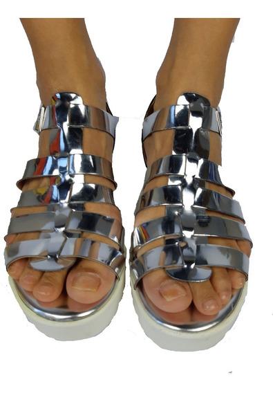 Sandália Flat Form Tratorada Conforto Original Leve