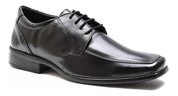 Sapato Social Masculino Cadarço Bertelli 90100 Preto
