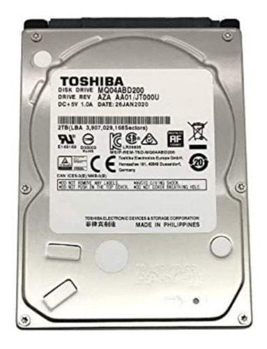Imagen 1 de 3 de Disco Duro Toshiba De 1tb