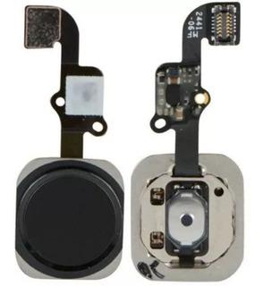 Botao Home Com Cabo Flex Flat iPhone 6 6g / Plus Preto