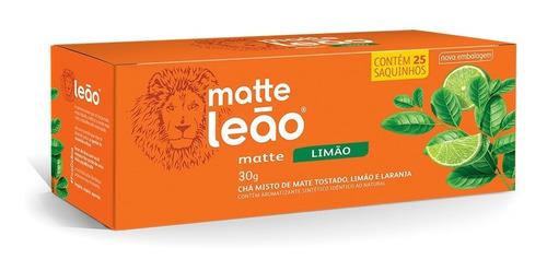 Imagem 1 de 2 de Chá Matte Leão - Limão 25 Saches