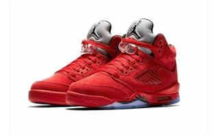 Air Jordan 5 Retro (gs) Red Suede 440888-602 (zeronduty)