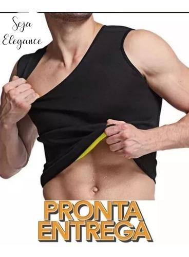 Imagem 1 de 8 de Regata Térmica Emagrecedora Queima Gordura Neoprene Masculin
