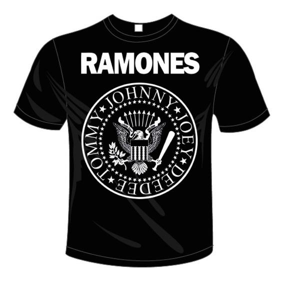 Playera De Hombre Con Logo De Los Ramones