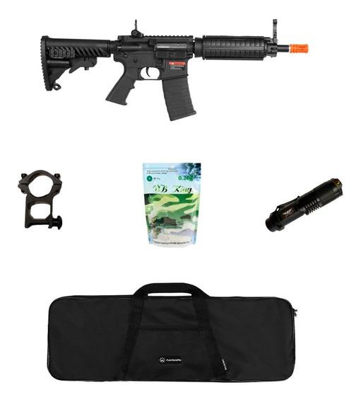 Rifle Airsoft Aps M4 C33 Kompetitor Blowback + Acessórios