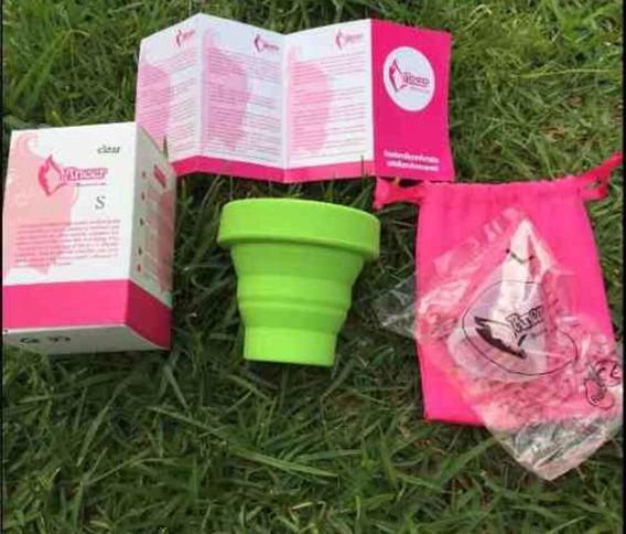 Copa Menstrual 5pz + Vaso Esterilizador 5pz