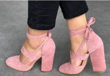 38183a629295 Zapatos De Fiesta Color Rosa Viejo Mujer - Calzado en Mercado Libre ...