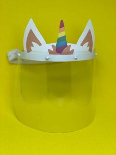 Face Shield Infantil Máscara Protetor Facial Unicórnio