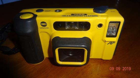 Câmera Fotográfica Analógica 35mm Minolta Weathermatic 35dl