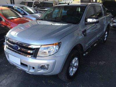 Ford Ranger Xlt 2.5 Flex Dupla 2015 Prata Equipada