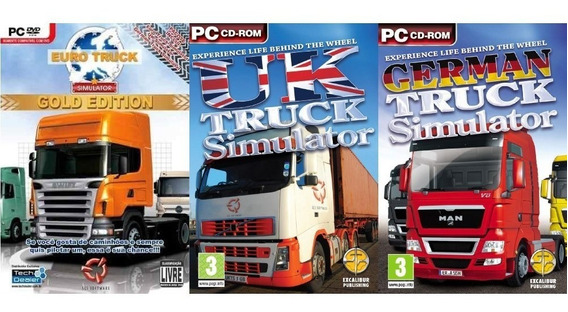 Pc: Euro Truck Simulator Gold Edition Totalmente Português