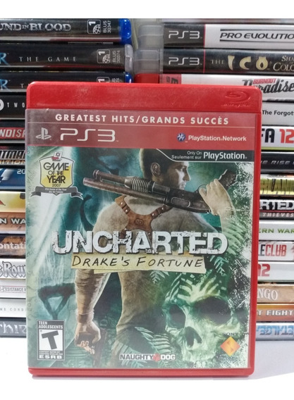 Ps3 - Uncharted Drake´s Fortune - Original - Mídia Física