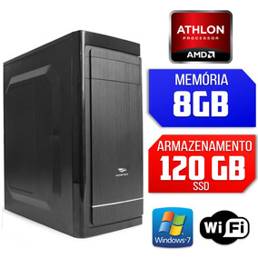 Computador Quad Core, 8gb Ram, Ssd, Windows 7 64 Bits, Wifi