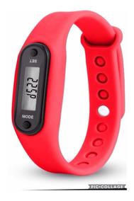 Fitness Relógio Com Função Pedrometro Cor Vermelha