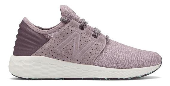 Tênis New Balance Fresh Foam Cruz Corrida Feminino Rosa
