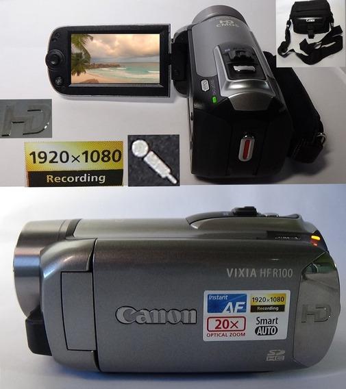 Filmadora Canon Vixia Hf-r100 Full Hd Entrada De Microfone
