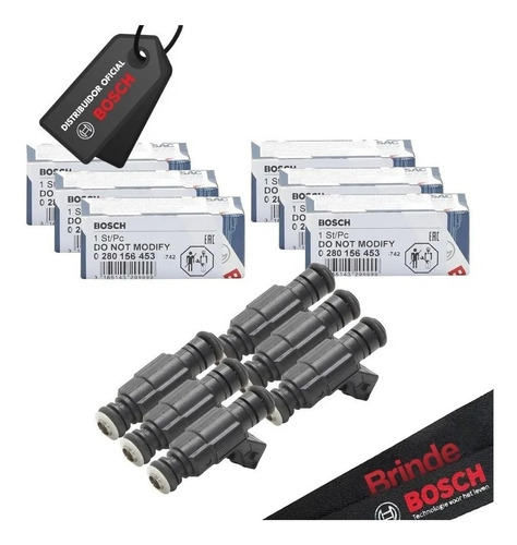 6 Bicos Injetor Bosch 65lbs/h 0280.156.453