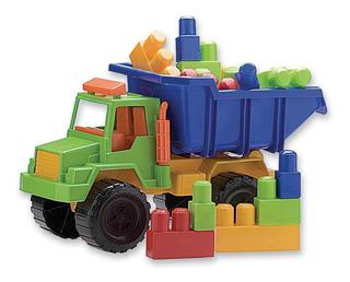 Camion Volcador Con Blocks Grandes De Encastre Duravit+cuota