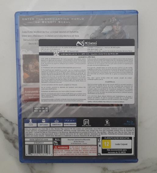 Game Syberia 3 Ps4 - Mídia Física - Novo Playstation 4 Jogo