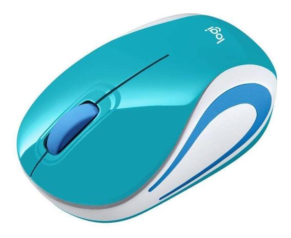 Mouse Usb Sem Fio Mini Optico Acqua Logitech