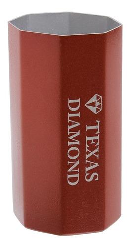 Imagem 1 de 1 de Copo Para Tereré Aço Inox Vermelho Octo Texas Diamond 29533