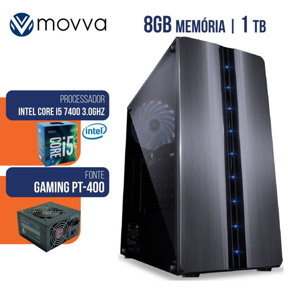Computador Gamer Intel I5 7400 3.0ghz 7a 8gb Hd 1tb Hdmi/vga